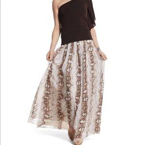 WHBM Sz 14 snakeprint maxi skirt